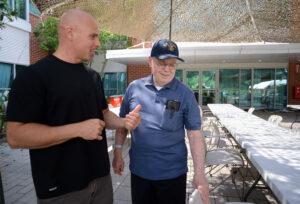 Ken Keene Jr. and Ken Keene Sr. working together to fight dementia