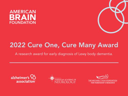 2022 Cure One, Cure Many Award