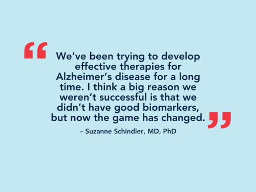 Suzanne Schindler and her diagnostic test for Alzheimer's